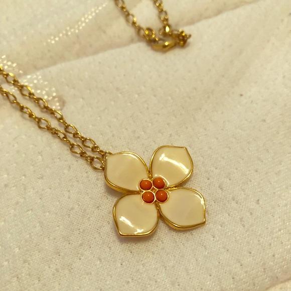 J. Crew Jewelry - Long Flower Necklace